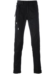 Off White 'Diagonal Spray' Slim Fit Jeans Black