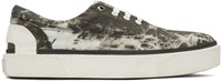 Lanvin Grey Vulcanized Tie Dye Sneakers