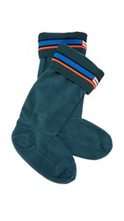 Hunter Buoy Stripe Boot Socks Ocean Azure Scallop