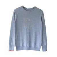 Ille De Cocos Qui Moi Sweater Grey And Gold