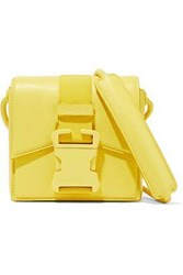 Christopher Kane Textured Leather Shoulder Bag Yellow