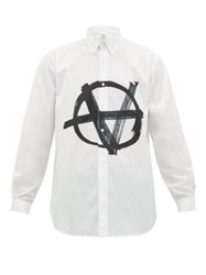 Vetements Anarchy Print Poplin Shirt White