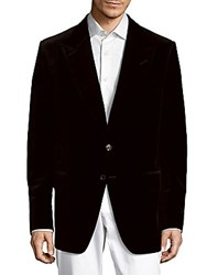 Tom Ford Classic Fit Solid Cotton Jacket Black