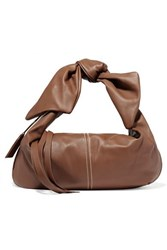 Acne Studios Knotted Leather Tote Tan