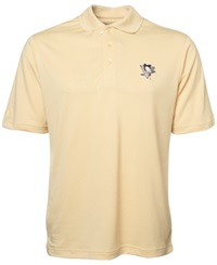 Antigua Men's Short Sleeve Pittsburgh Penguins Polo Gold