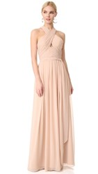 Monique Lhuillier Bridesmaids Halter Gown With Cutout Bamboo