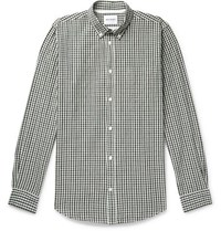 a2c14aaafc1 Norse Projects Osvald Button Down Collar Gingham Cotton And Linen Blend  Shirt Navy