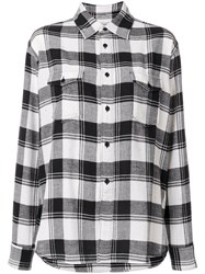 Saint Laurent Classic Checked Shirt Black