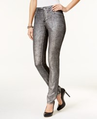 Inc International Concepts Metallic Curvy Fit Skinny Jeans Only At Macy's Silver