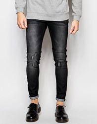 Cheap Monday Jeans Him Spray Stretch Super Skinny Fit Grey Vision Repair Grey
