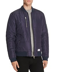 Wesc Race Quilted Nylon Bomber Jacket Navy