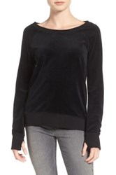 Pam And Gela Back Lace Up Sweatshirt Black
