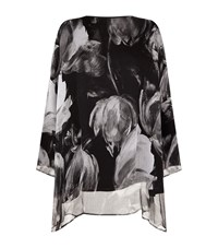 Eskandar Floral Tunic Top Female Black