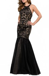 Jvn By Jovani Women's Sequin Lace And Mesh Mermaid Gown