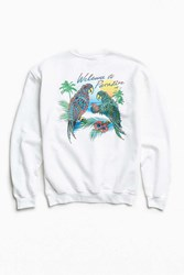 Urban Outfitters Welcome To Paradise Crew Neck Sweatshirt White