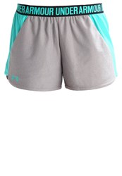 Under Armour New Play Up Sports Shorts True Gray Heather Absinthe Green Grey