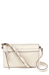 Hobo Tobey Leather Crossbody Bag White Magnolia