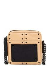 L.A.M.B. Inez Leather Crossbody Beige