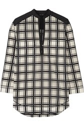 Proenza Schouler Checked Cotton And Silk Blend Voile Tunic White