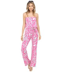 Lilly Pulitzer Tia Jumpsuit Capri Pink Papaya Playa Women's Jumpsuit And Rompers One Piece