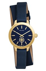 Tory Burch Women's 'Collins' Double Wrap Leather Strap Watch 32Mm