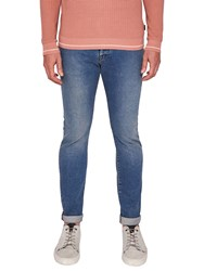Ted Baker T For Tall Woodmtt Tapered Fit Jeans Mid Wash Blue