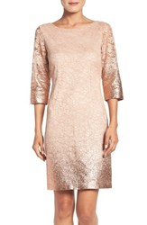 Ivanka Trump Women's Foiled Lace A Line Dress