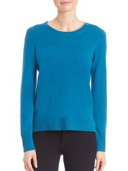 Saks Fifth Avenue Cashmere Crewneck Sweater Fuchsia Taupe Light Grey White Black Teal