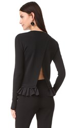 Nina Ricci Ruffle Hem Sweater Black