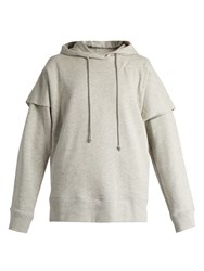 Maison Martin Margiela Hooded Cotton Sweatshirt Grey