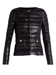 Herno Collarless Quilted Down Jacket Black