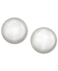 Belle De Mer Pearl Earrings 14K Gold Cultured Freshwater Pearl Stud Earrings 7 1 2Mm