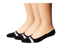 Sperry Signature Invisible Solid 3 Pair Pack Black Men's Crew Cut Socks Shoes
