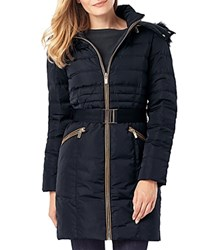 Phase Eight Paula Faux Fur Trim Puffer Coat Navy