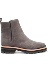 Sigerson Morrison Suede Ankle Boots Dark Gray
