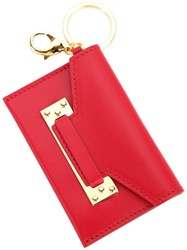 Sophie Hulme Milner Micro Cardholder Keyring Women Calf Leather One Size Red