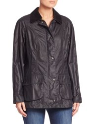 Barbour Beadnell Waxed Cotton Jacket Navy
