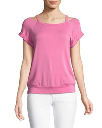 Bailey 44 Forget Me Not Cold Shoulder Top Pink