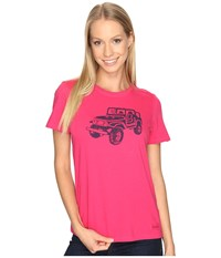 Life Is Good Offroad 4X4 Crusher Tee Pop Pink Women's T Shirt