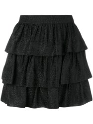 Stella Mccartney Jacquard Tiered Skirt Black