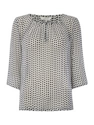 Part Two Effortless Feminine Blouse Made From A Light Fabr Blue
