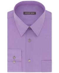 Geoffrey Beene Men's Classic Fit Wrinkle Free Bedford Cord Dress Shirt Thistle