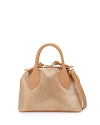 Foley Corinna Cassis Mini Leather Satchel Bag Gold Dust