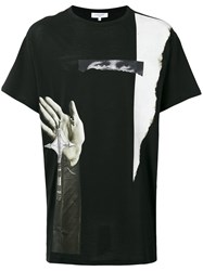 Les Benjamins Printed T Shirt Men Cotton S Black