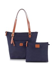 Bric's X Bag Medium Foldable Shopper Blue