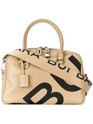 Barbara Bui Logo Print Tote Nude And Neutrals