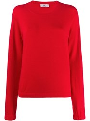Closed Relaxed Fit Crew Neck Jumper Red