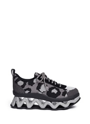 Marc By Marc Jacobs 'Ninja' Zigzag Rubber Platform Low Top Sneakers Animal Print Multi Colour