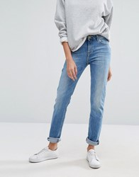 Lee Elly Slim Straight Mid Rise Jeans Light Shadow Blue
