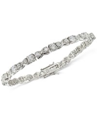 Giani Bernini Cubic Zirconia Boxed Infinity Tennis Bracelet In Sterling Silver Only At Macy's